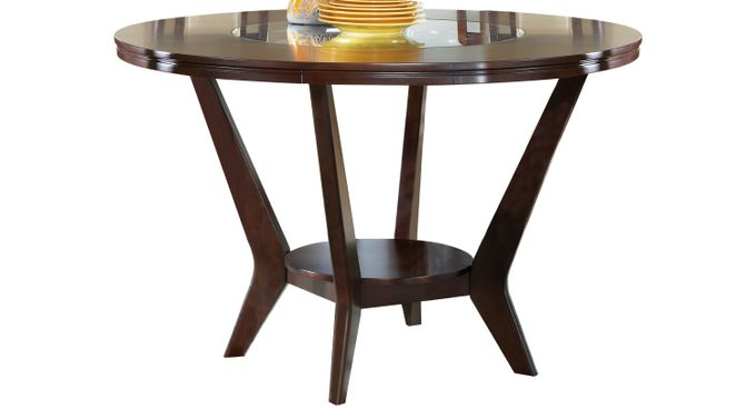 Highland Park Ebony Round Counter Height Dining Table - Contemporary