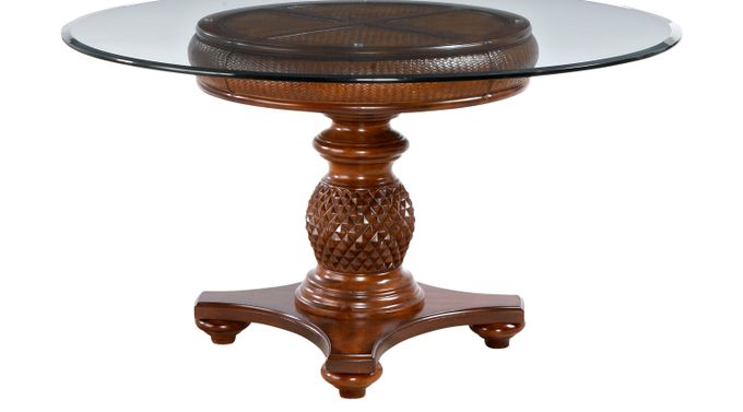 Key West Tobacco  (tan / brown) Dining Table - Round - Traditional