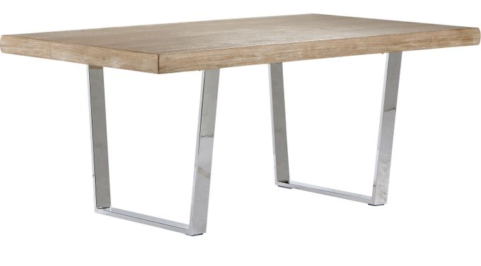 San Francisco Ash (gray)  Rectangle Dining Table - Contemporary