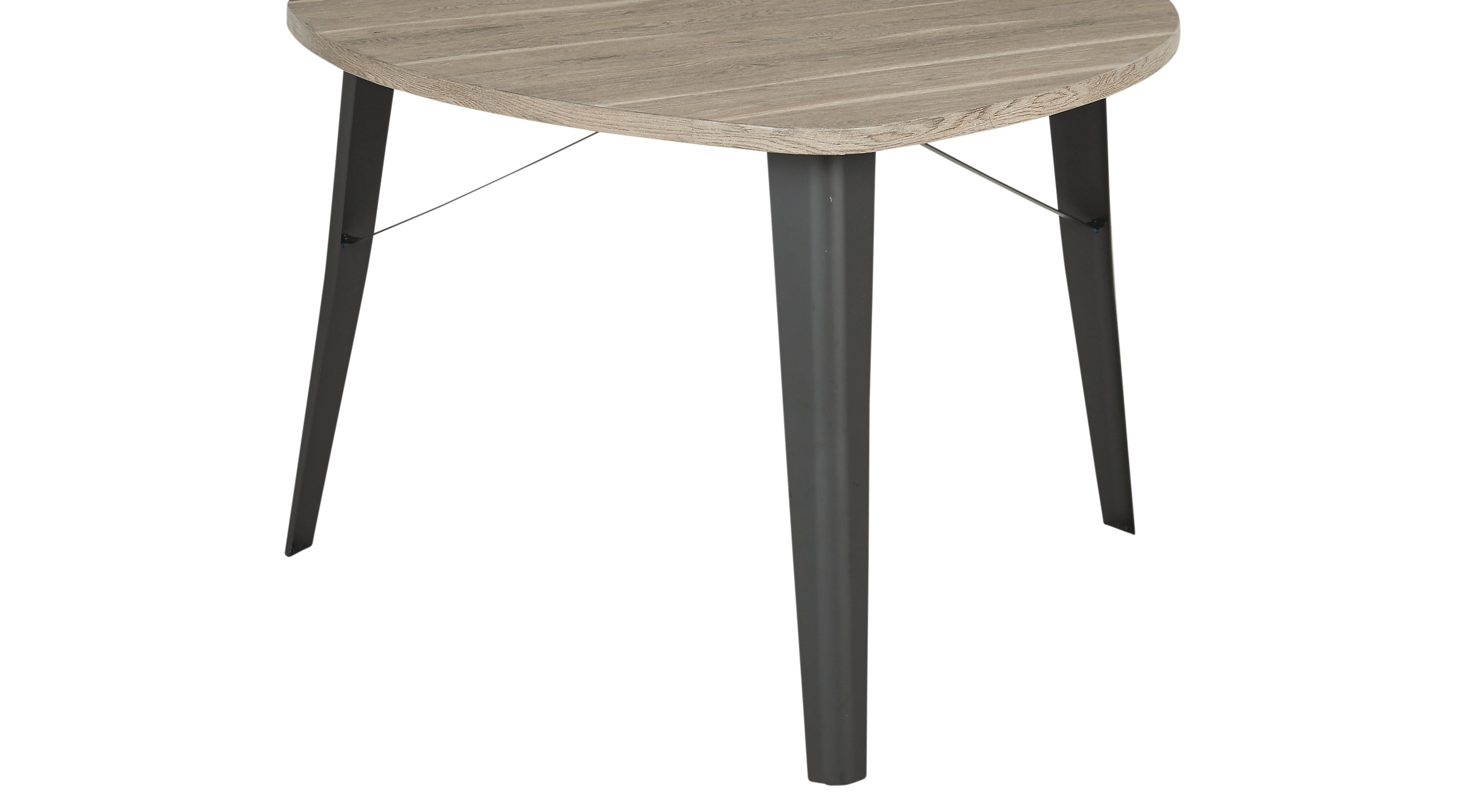 Evander Gray Triangle Dining Table Casual
