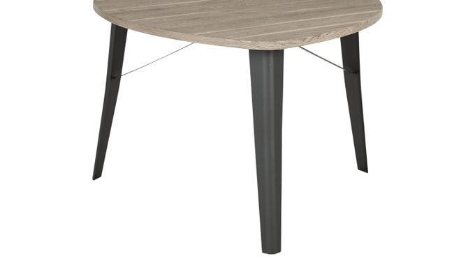 Evander Gray Triangle Dining Table - Casual