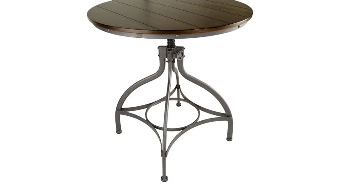 Industry Place Cherry Dining Table - Adjustable - Rustic