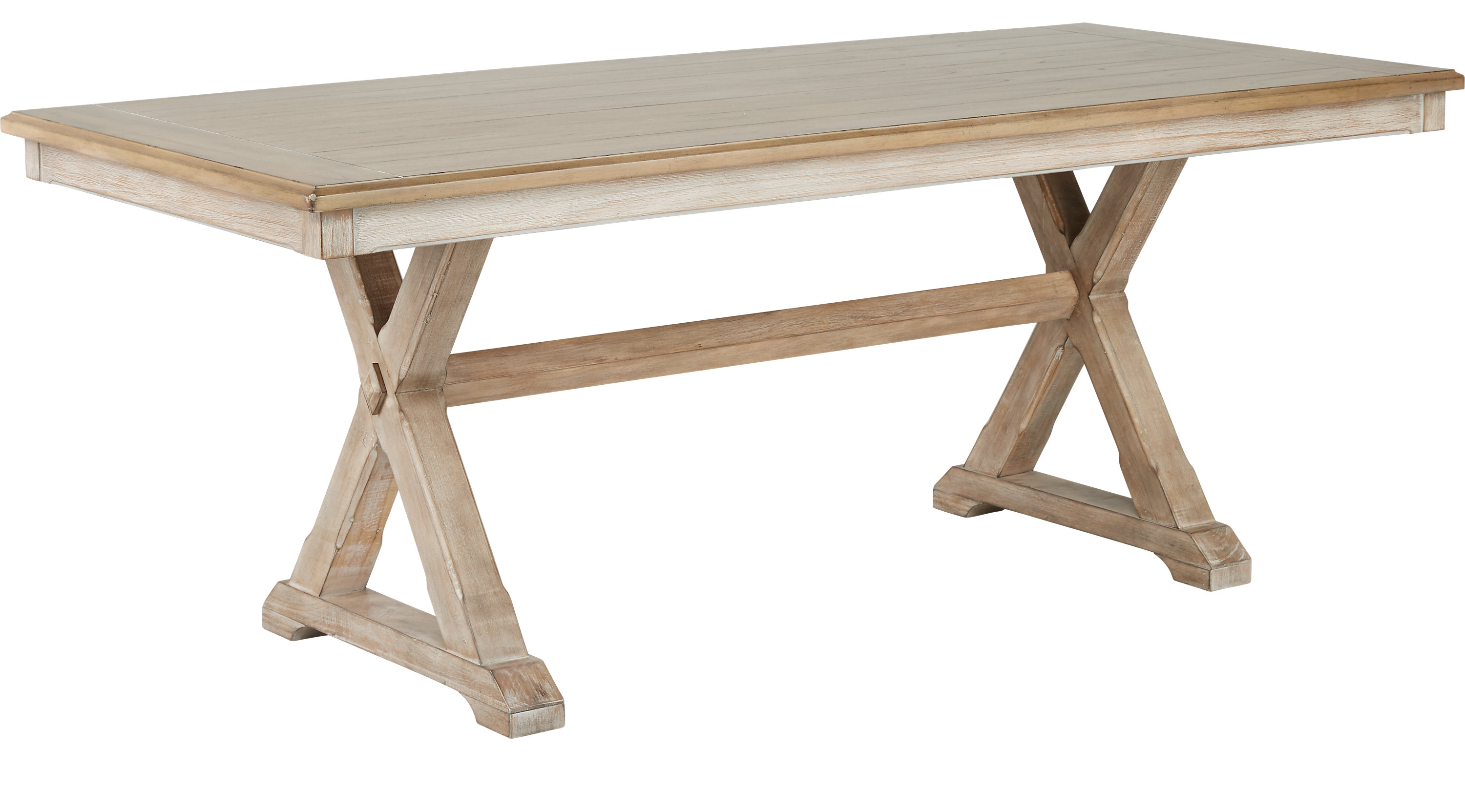 Nantucket Breeze White Dining Table Rectangle Traditional