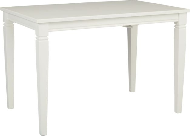 Riverdale White Square Counter Height Dining Table - Transitional