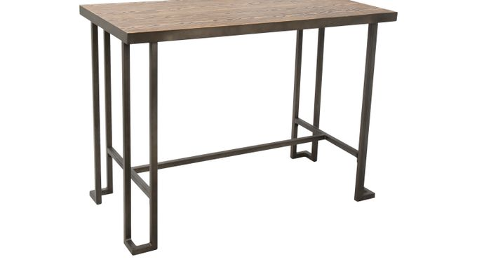 Rutland Brown Counter Height Table - Rectangle - Contemporary