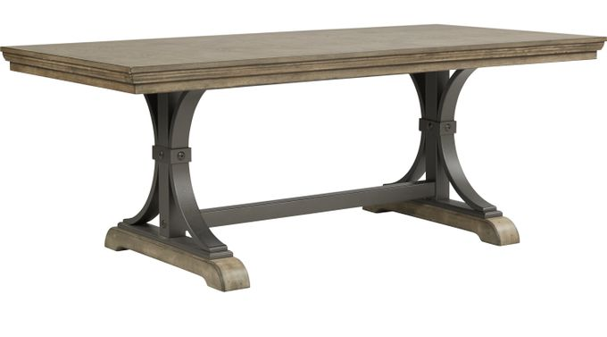 Sierra Vista Driftwood (brownish gray)  Rectangle Dining Table - Rustic