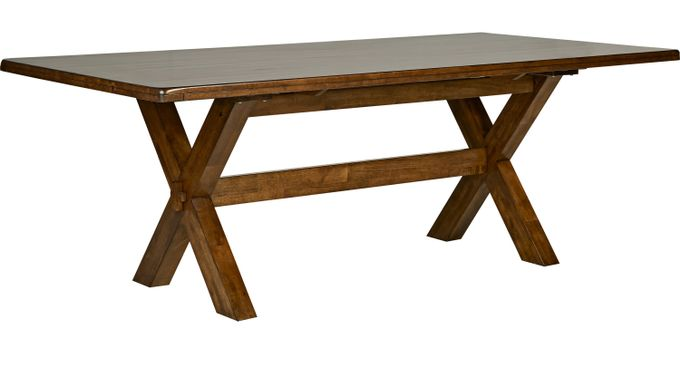 Twin Lakes Brown 84 in. Rectangle Table - Rustic