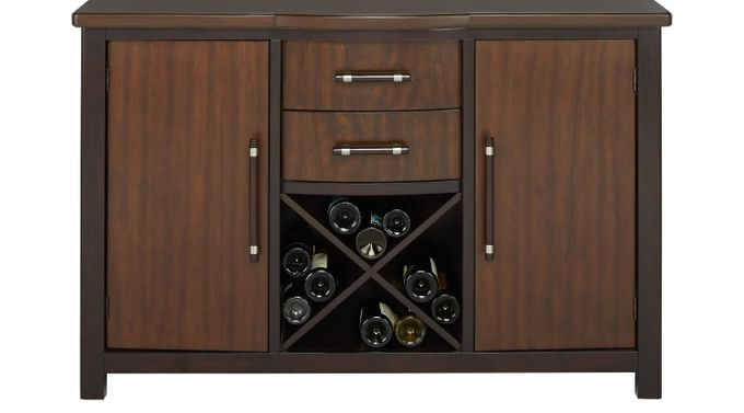 Bedford Heights Cherry Server - Transitional