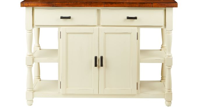 Hillside Cottage White Sideboard Traditional
