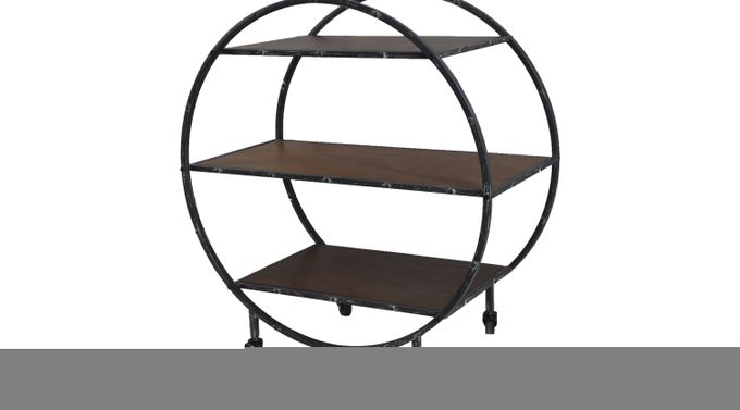 Rollin Day Brown Bar Cart - Contemporary