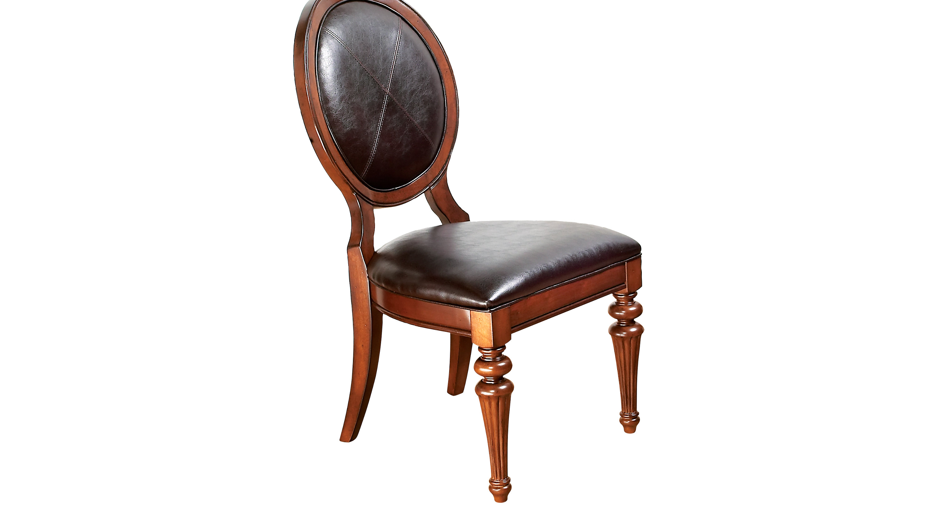 Cindy Crawford Home Key West Tobacco Oval Side Chair
