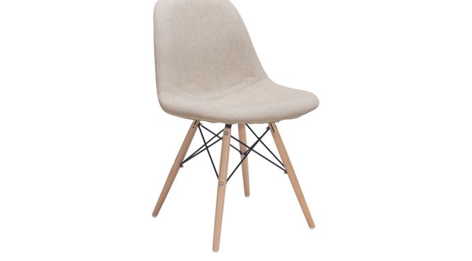 Classon Beige Dining Chair - Upholstered