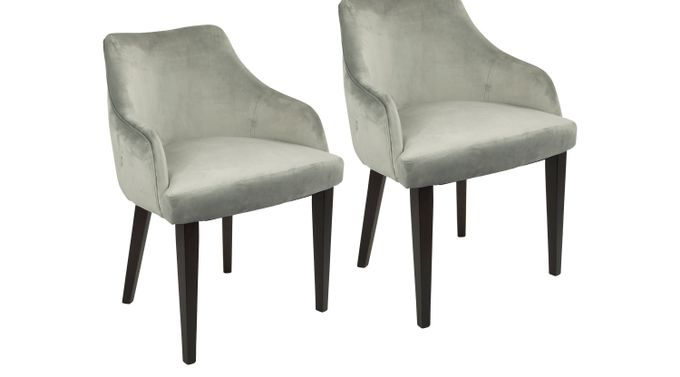 Elsetta Gray Dining Chair (Set of 2) - Contemporary