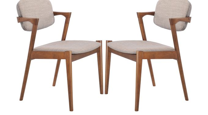 Endell Gray Dining Chairs (Set of 2) - Upholstered