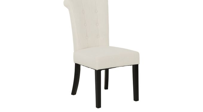 Georgiana White Side Chair - Contemporary