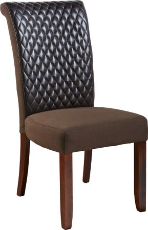 Imperial Brown Side Chair - Upholstered - Contemporary