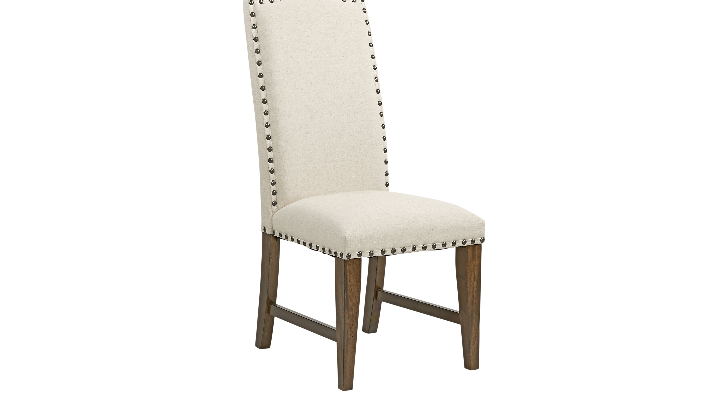Industrial Court Oatmeal Light Gray Side Chair Traditional