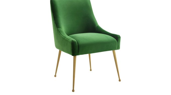 Loretta Green Dining Chair - Contemporary