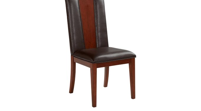 Savona Chocolate (brown)  Wood Back Side Chair - Upholstered - Contemporary
