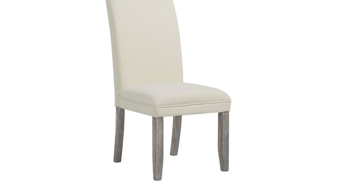 Tulip Chalk (white)  Side Chair with Gray Legs - Upholstered - Contemporary