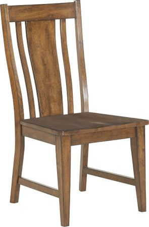 Twin Lakes Brown Splat Back Side Chair - Rustic