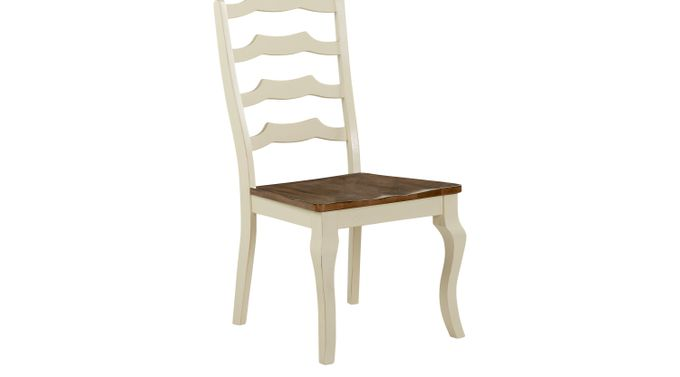 Twin Lakes White Ladder Back Side Chair - Rustic