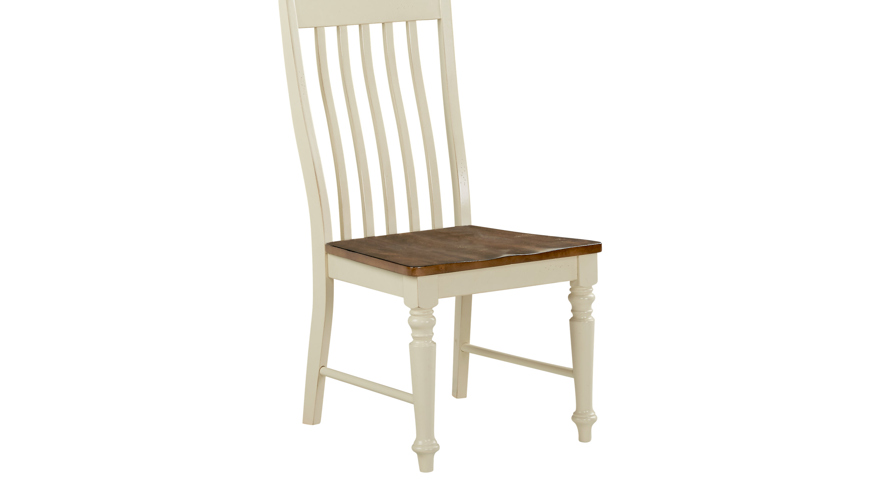 Dining room side chairs twin lakes white slat side chair for Dining room end chairs