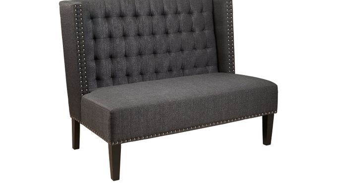 Willa Charcoal (dark gray)  Banquette