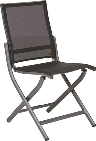 Seagate Pewter (dark gray)  Outdoor Side Chair Aluminum