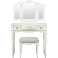 Picture of a white vanity set
