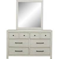 Picture of a white dresser mirror set