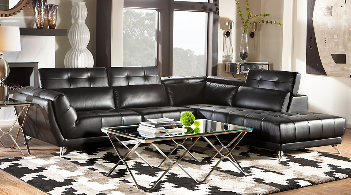 Beige, Black & White Living Room Furniture & Decorating Ideas