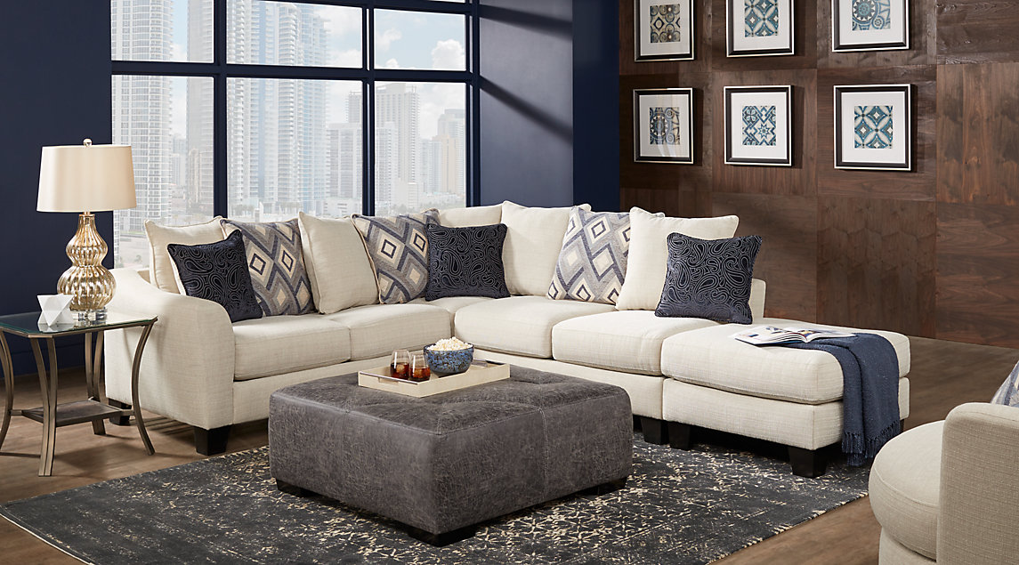 Delicieux ... Grey, White Living Room Set