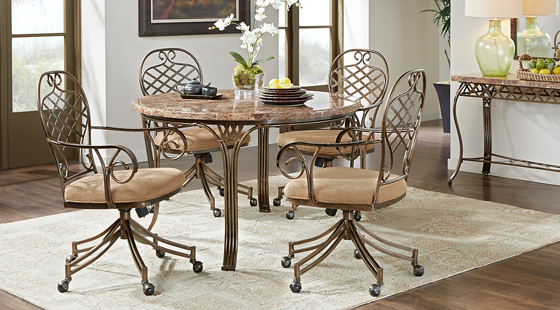metal dining room sets | Beige, Brown & White Dining Room Furniture: Ideas & Decor