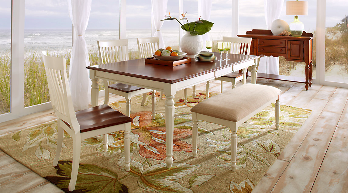picture of the Cindy Crawford Ocean Grove dining room set