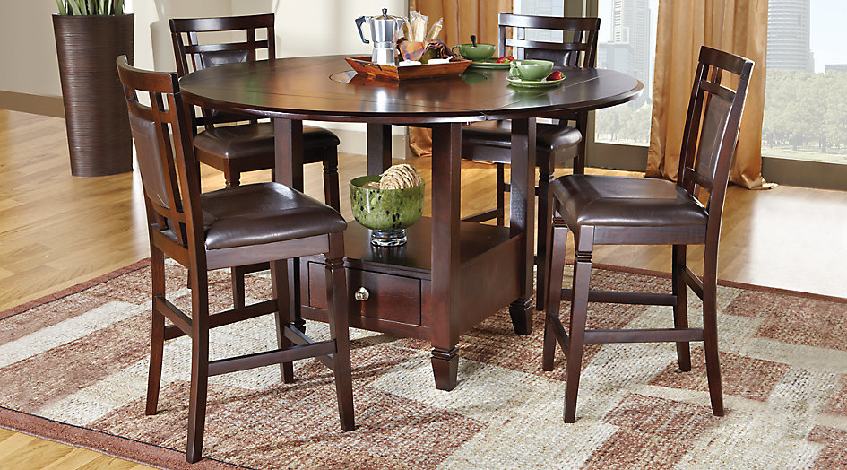 Picture of the Landon Chocolate dining set.