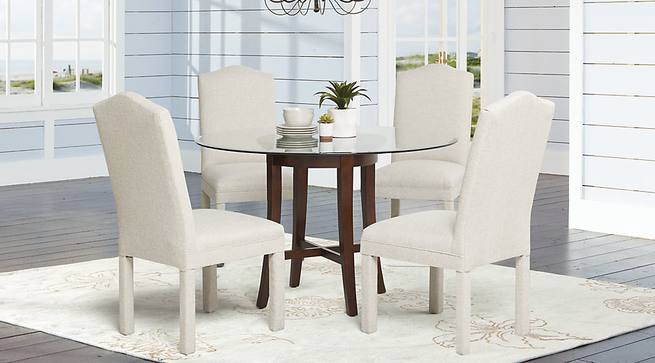 Picture of the Thurleigh Cappucino dining room set.