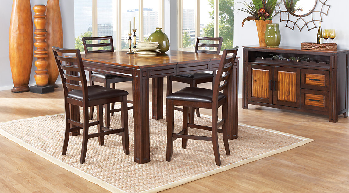 Picture Of The Adelson Chocolate Dining Room Set