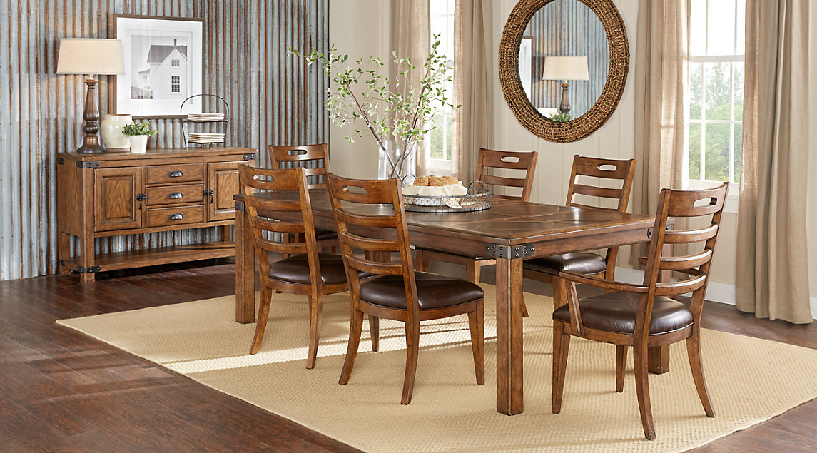 picture of the Eric Church Highway to Home Heartland Falls dining room set
