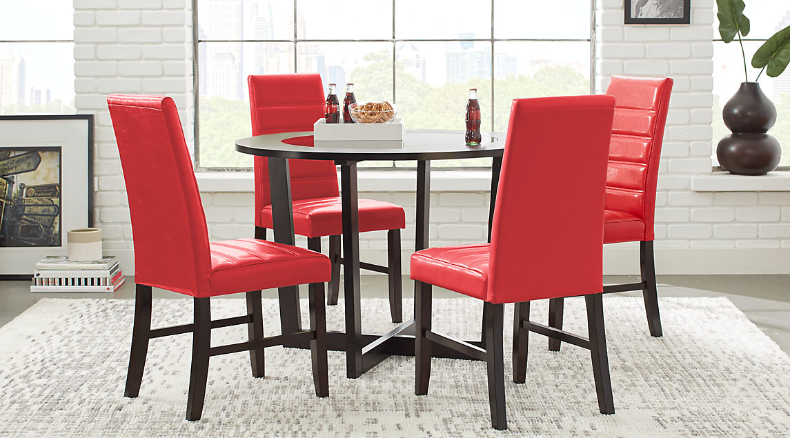 Red, White & Black Dining Room Furniture: Ideas & Decor
