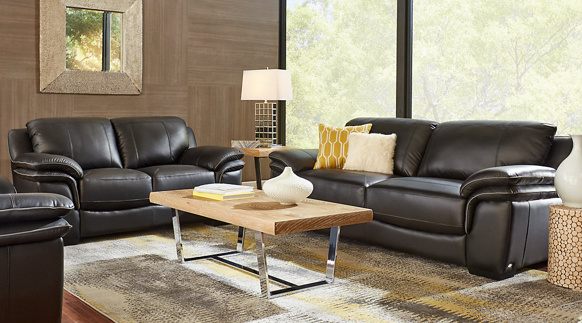 Beige, Black & Brown Living Room Furniture: Decorating Ideas