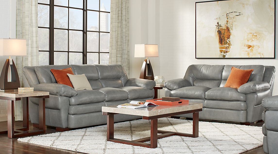 Gray And Orange Living Room : Orange & Gray Living Room Furniture and Decorating Ideas