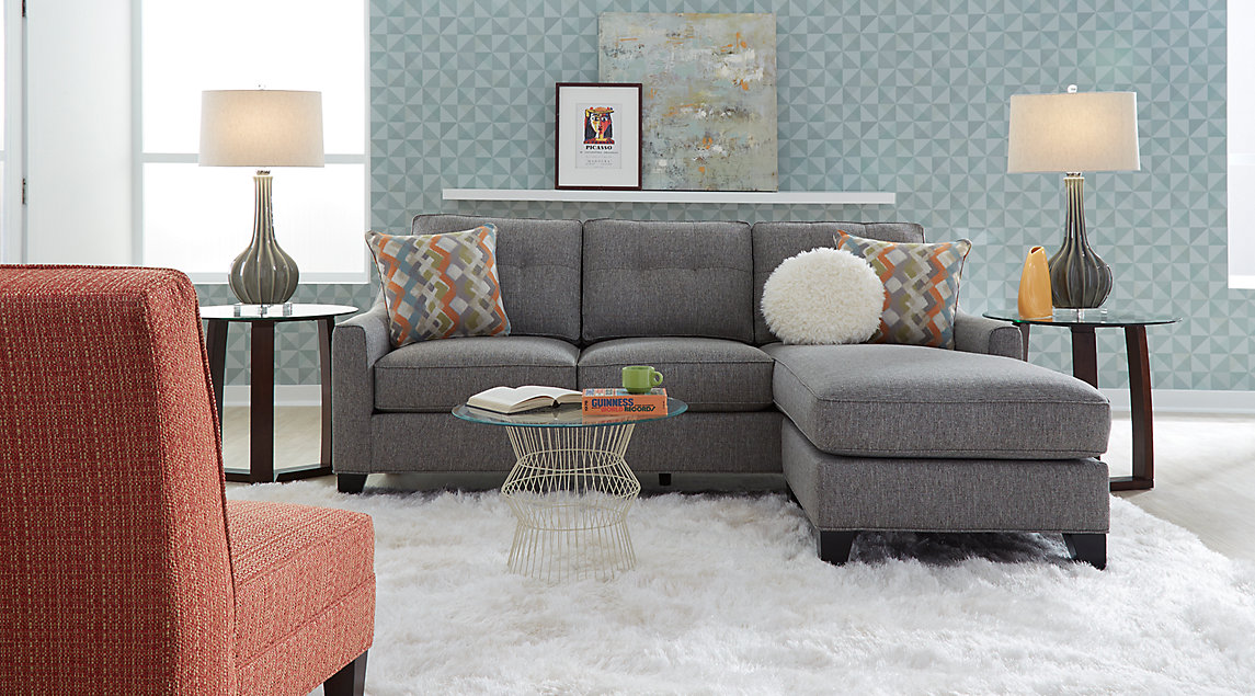 Orange Amp Gray Living Room Furniture And Decorating Ideas