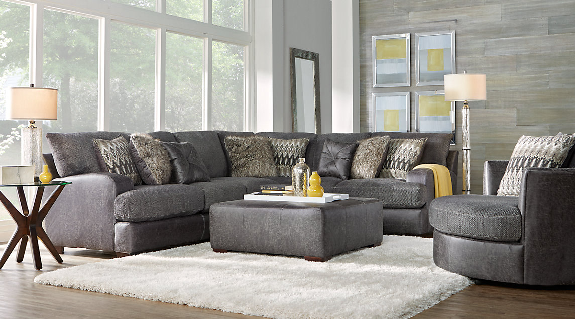 Gray white gold living room furniture decorating ideas - Gray modern living room furniture ...