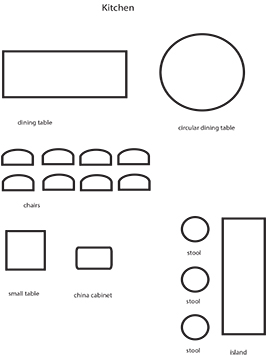 kitchen worksheet