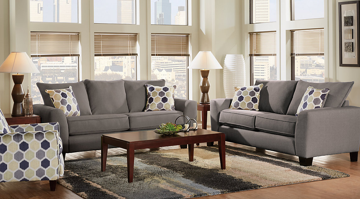 Bonita Springs Living Room Set Bonita Springs Living Room Set With Dark  Gray Sofa And Loveseat