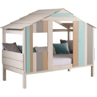 Picture of a beach themed kids loft bed