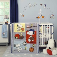 Picture of a Snoopy nursery bedding set