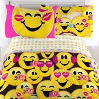 Picture of yellow smiley face emoji bedding