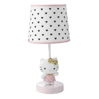 Picture of a white Hello Kitty table lamp